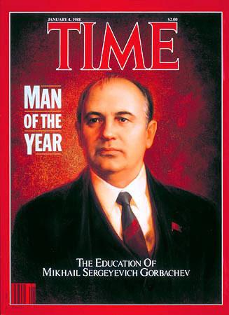 """En enero de 1988 fue seleccionado """"hombre del año"""" por la Revista Time. En 1990, le concedieron el Nobel de la Paz. En 1991, la URSS desapareció."""
