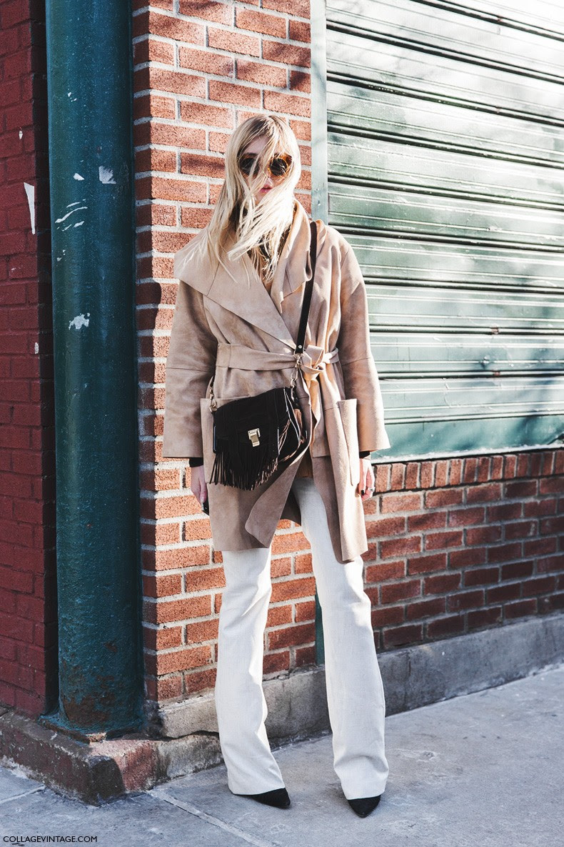 New_York_Fashion_Week-Fall_Winter_2015-Street_Style-NYFW-Camille_Over_The_Rainbow-Suede_Coat-Flared_Jeans-