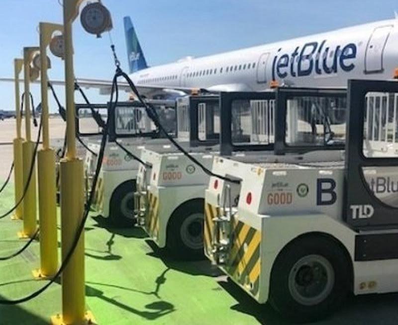 JetBlue transforma en sostenible su equipo de servicio terrestre. A
