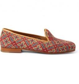 Stubbs & Wootton Needlepoint Tapestry Slippers