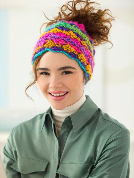 Drawstring Bun Hat (Crochet)