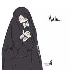 21 Gambar Kartun Muslimah Tomboy Keren Gambar Kitan