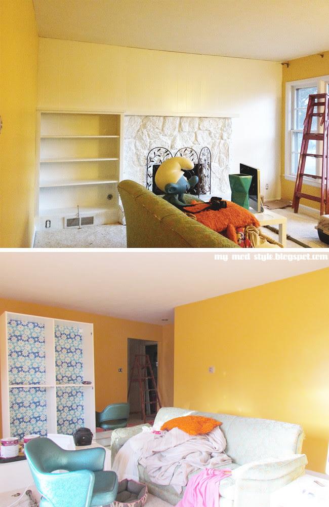 Living Room paneling white
