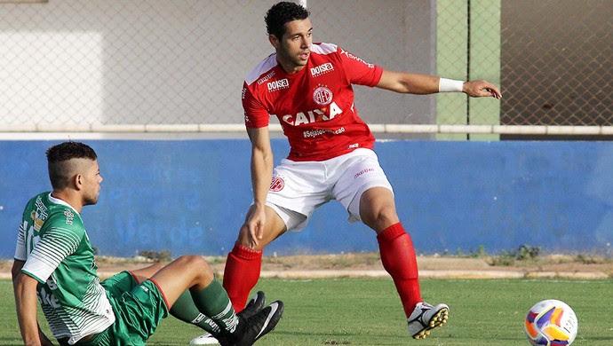 América-RN x Alecrim - Júnior Timbó (Foto: Augusto Ratis)