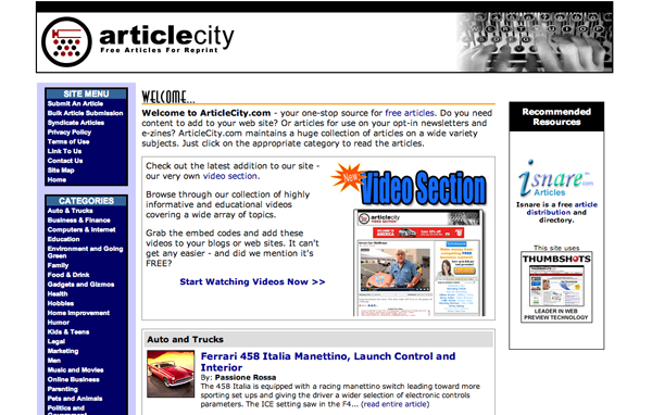 Article City