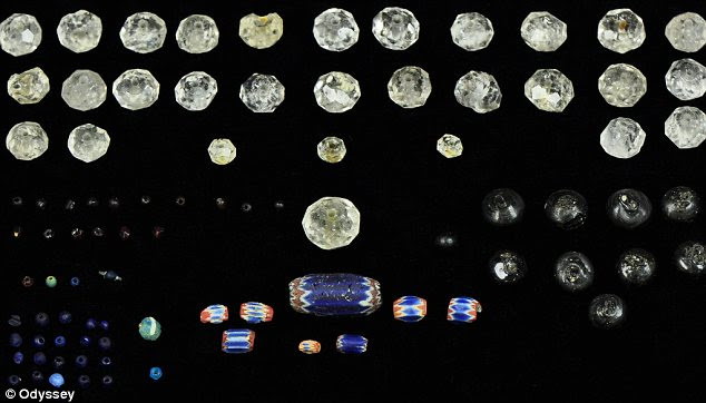 Precious: A selection of the jewels and precious stones being transported from the New World to the Old
