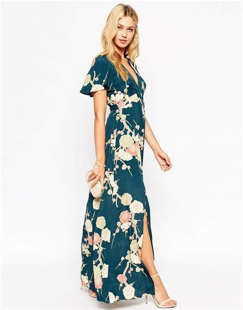 Image 4 of ASOS WEDDING Maxi Dress with Wrap Front in