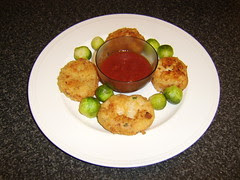 Smoked Salmon Fishcakes with Hot Chilli and Tomato Sauce