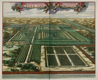 General view of the beautiful park of Sorgvliet [Zorgvliet] by Johannes Aveele