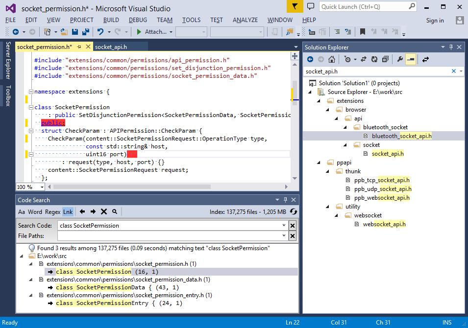 PSA: VsChromium, a Visual Studio plugin for Chromium development