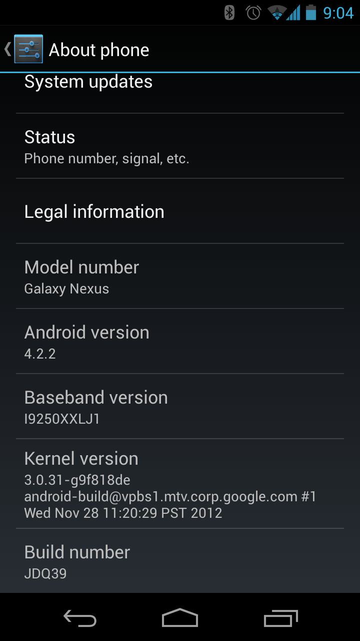 Galaxy Nexus is being updated to 4.2.2 Jelly Bean