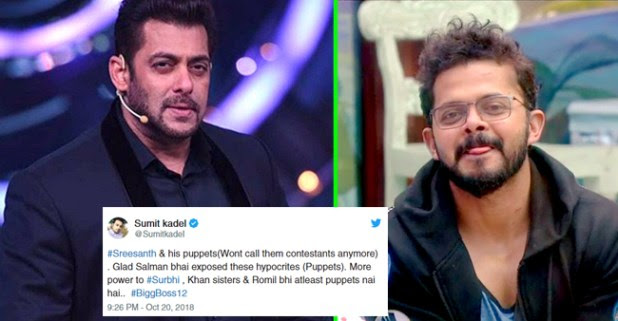 Bigg Boss 12: Twitteratis Think Colors TV Is Being Biased Towards Sreesanth