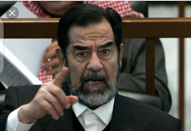 Sadam Hussein's Last minute Bravery
