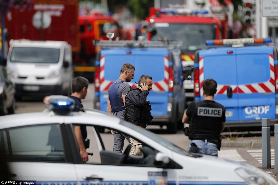 Units attending including the elite RAID, the anti-terrorist unit that was heavily involved in the Paris attacks last year, in which almost 150 people were murdered