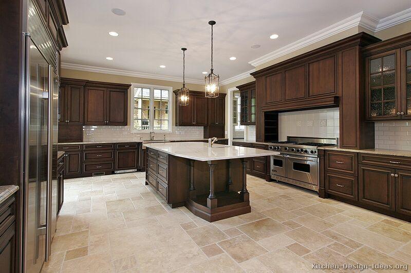 Kitchen Of Dark Wood Architecture Homes Decoration