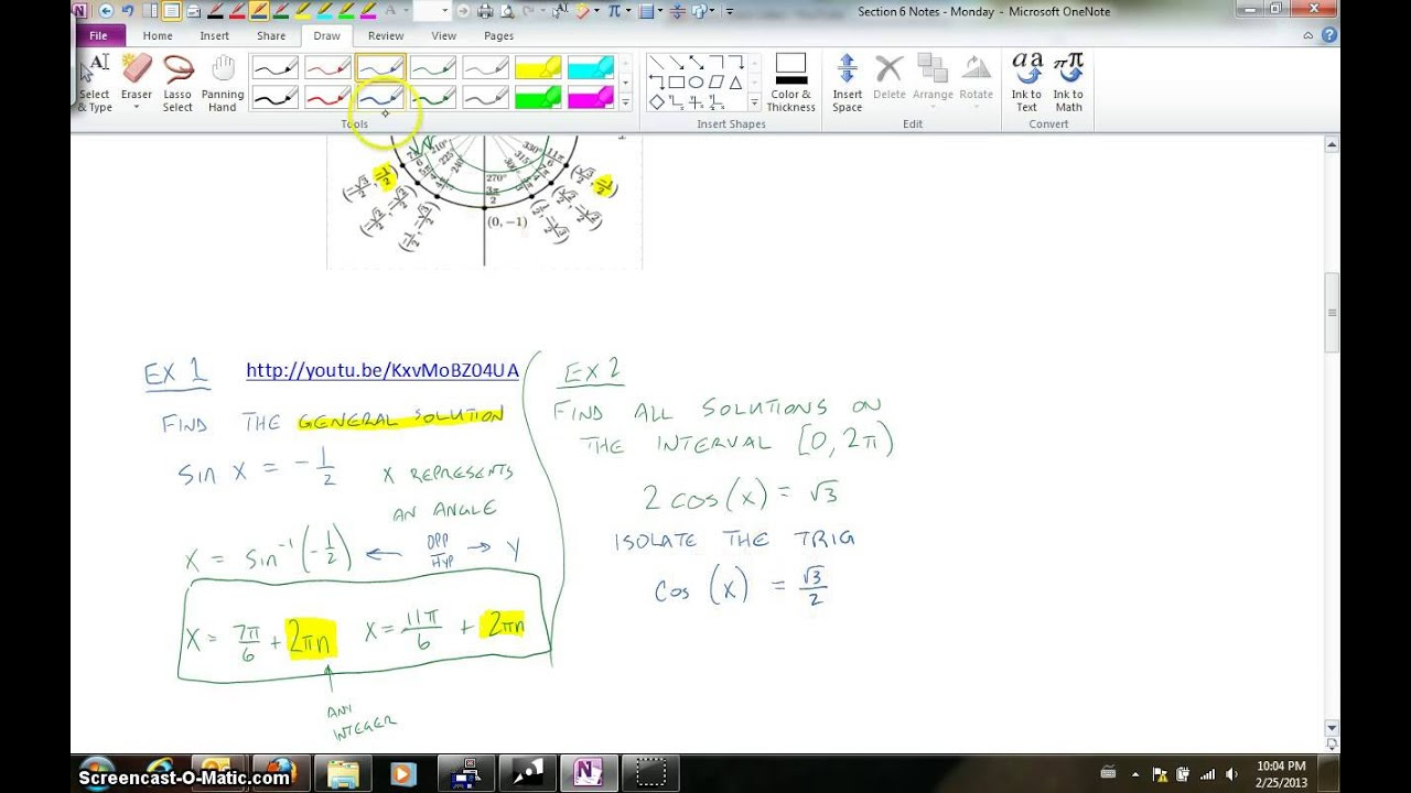 Solving Trig Equations on the Interval [0, 2pi) .mp4 - YouTube