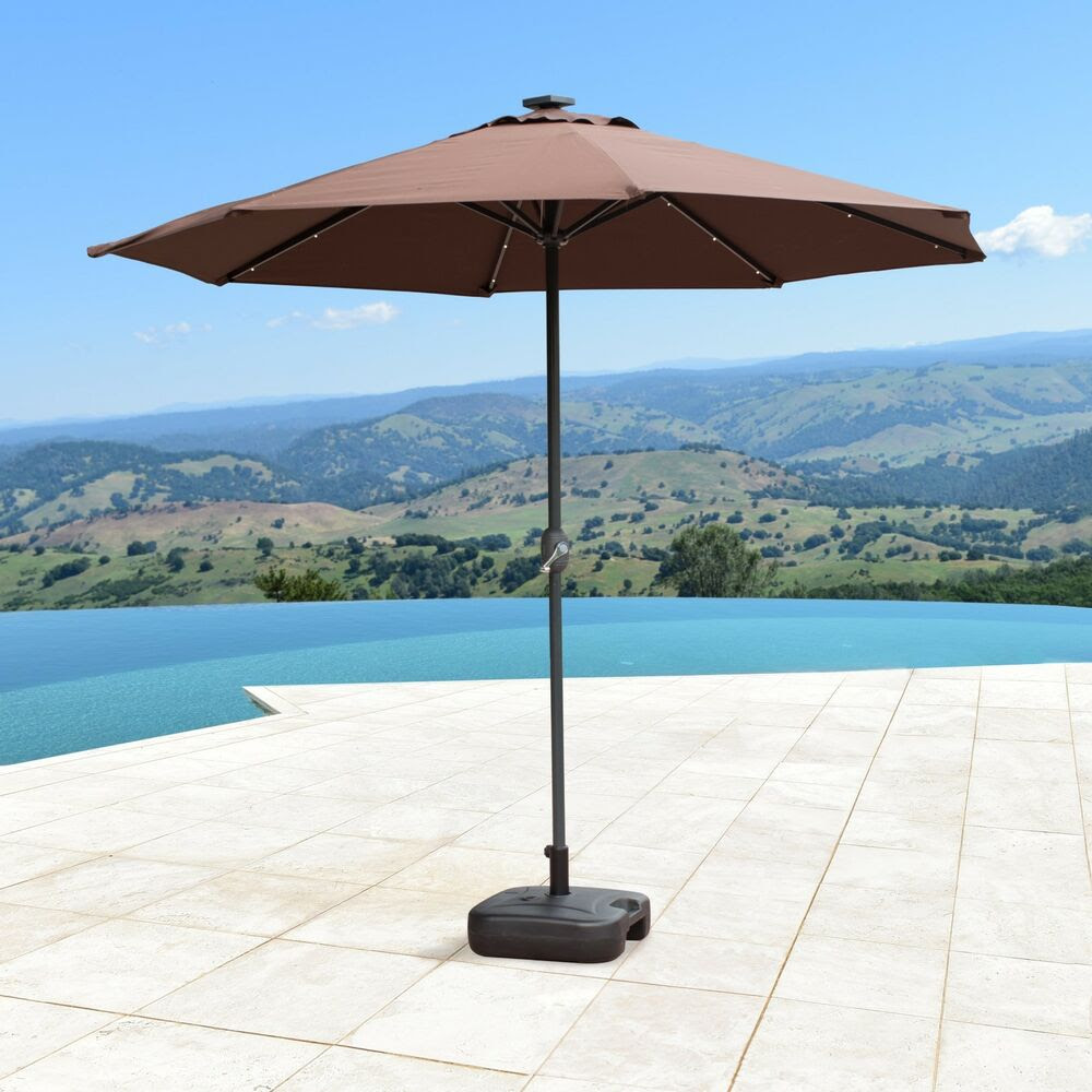 SUPERNOVA 9'FT Solar LED Lights Patio Umbrella Garden ...