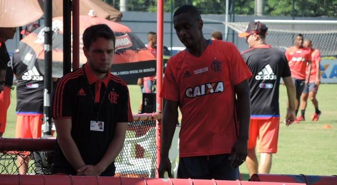 Juan volta a treinar na Gávea após 13 anos (Foto: Gustavo Rotstein/GloboEsporte.com)