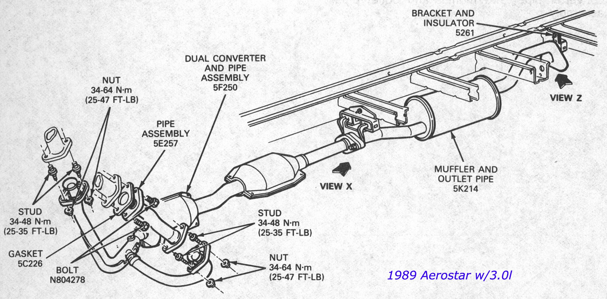 32 2002 Ford Explorer Exhaust System Diagram