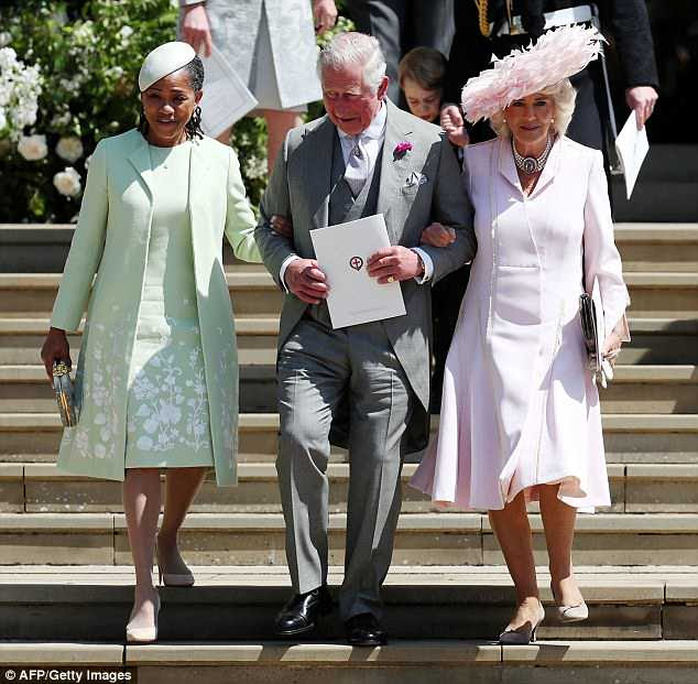 Meghan's mother Doria Ragland with Prince Charles and the Duchess of Cornwall
