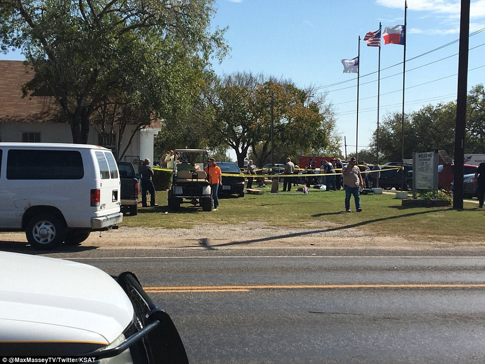 The shooting happened at the First Baptist Church of Sutherland Springs, where around 50 people usually attend service, according to local reports