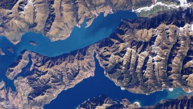 Vista espacial da Nova Zelândia