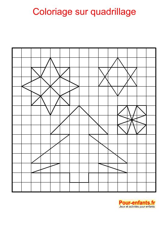 Coloriage géométrique pour NOEL. Décoration de NOEL à imprimer.