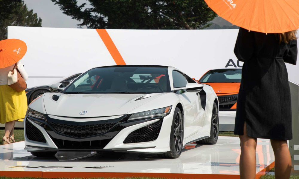 2019 acura nsx gets drenched in thermal orange at pebble