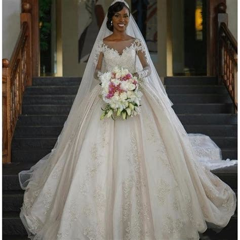 2017 New Vintage Dress for Black Women Ball Gown Wedding