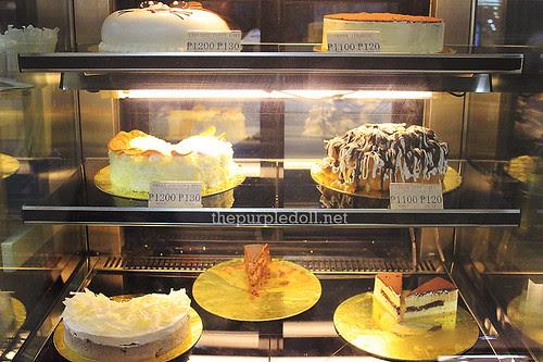 Akiba Cafe Cake Display