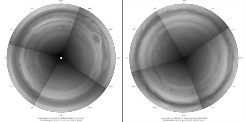 Jupiter Stereographic Polar Projection - Green channel by Mick Hyde