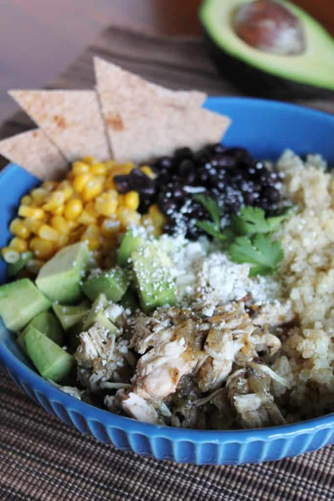 Slow Cooker Salsa Verde Burrito Bowls 2