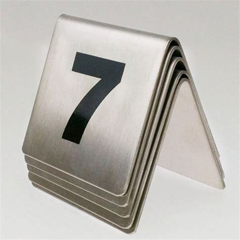 stainless steel table numbers party hire brisbane