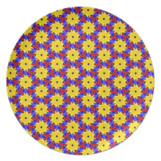 Beautiful Pinwheel-like Design on Dinner Plate