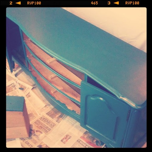 Painting the dresser