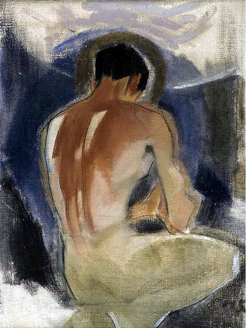 artqueer:  Helene Schjerfbeck (1862-1946), Robber at the Gate of Paradise, 1924-25. Oil on canvas, 83.5 x 62.5 cm.