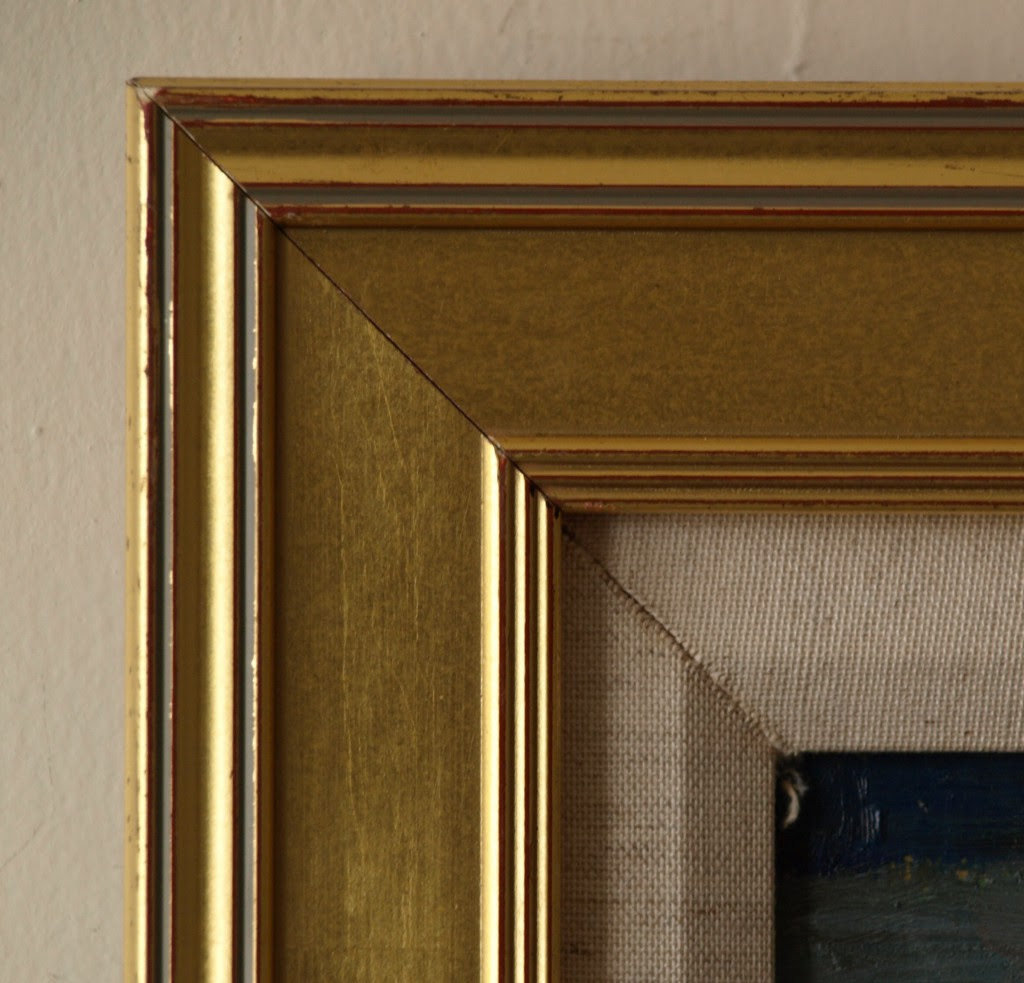 Gold Frame Thick Outside Ribbing 20 X 24 Inches Richard