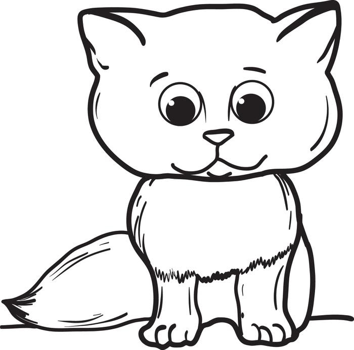 Cat Coloring Pages | Free download on ClipArtMag