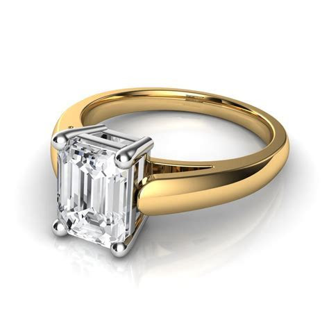 Emerald Cut Diamond Solitaire Engagement Ring  Natalie