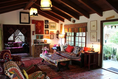 Bohemian, Boho, Indie Eclectic Interior Design Spaces - Living Room | Live Love in the Home