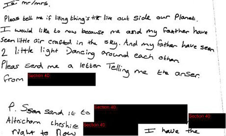 UFO letter