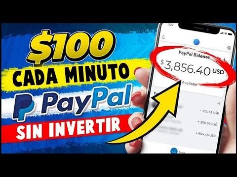 Cómo Ganar DINERO para PAYPAL 6$ En 60 SEGUNDOS! Sin INVERTIR💰 (DINERO RAPIDO EN INTERNET)