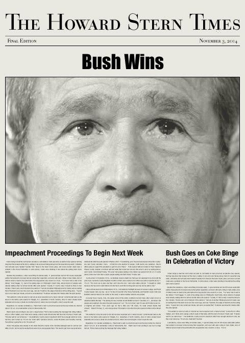 Bush wins!