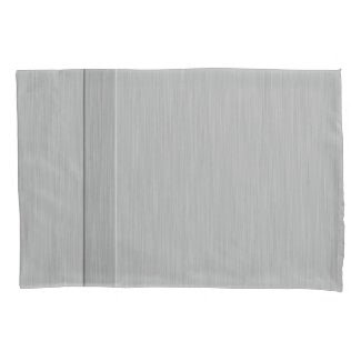 Faux Brushed Metal with Groove Pillowcase