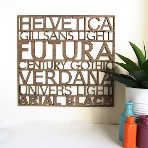 Home Office - Sans Serif Typography Wood Wall Art via peppersprouts from Etsy