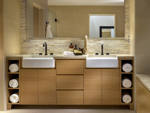 While at CHil Design Group contemporary bathroom