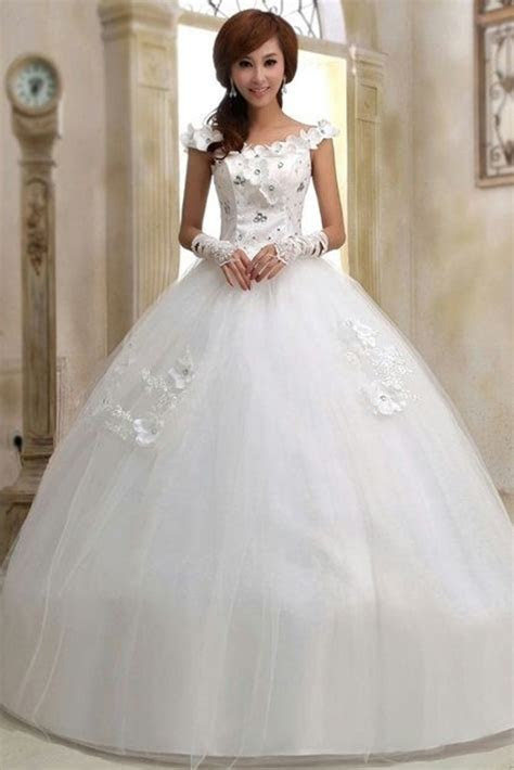 Buy Boat Necked White Wedding Gown online   Gowns   Womens
