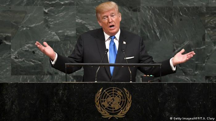 UN Generalversammlung in New York   Donald Trump, Präsident USA (Getty Images/AFP/T.A. Clary)