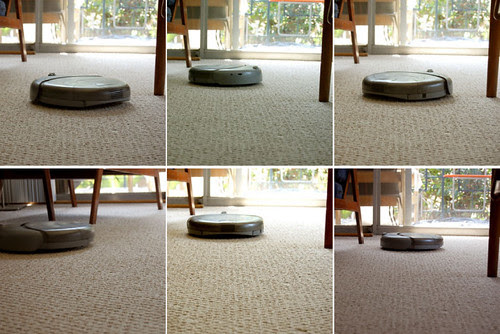 roomba moving