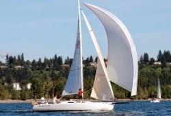 J/105 sailboat- sailing Pacific Cup to Hawaii